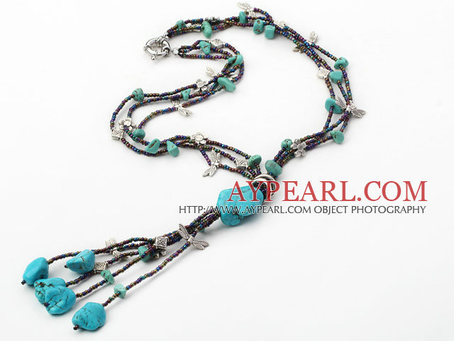wonderful multi strand turquoise necklace