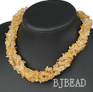 Wholesale multi strand 6mm citrine necklace