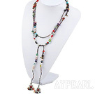 Wholesale hot multi color pearl and stone necklace