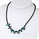 Wholesale black agate garnet turquoise necklace