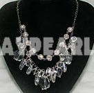elegant crystal and manmade diamond ball necklace