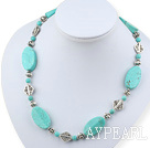 Wholesale fashion burst pattern turquoise necklace with moonlight clasp
