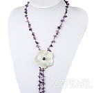 Wholesale amethyst shell necklace