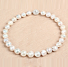 Classic Style Natural B Grade White Nuclear Pearl Party Necklace