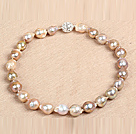 Fashion 18Mm Chunky Style Flat Round Vitelline Stone Beaded Necklace With Toggle Clasp