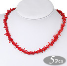 Coral necklace (Total 5 pcs)