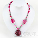 Wholesale pink agate necklace