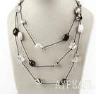 Wholesale fashion long style crystal and agate necklace