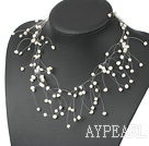 Fantastic White Freshwater Pearl Bridal Necklace