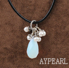 nt necklace with Colier cu pandantiv Moonstone lobster clasp homar încheietoare
