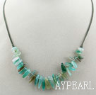 Wholesale Simple Style Green Agate Necklace with Lobster Clasp