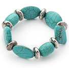 Elastic assorted multi shape turquoise bangle bracelet