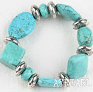 Wholesale Stretch assorted multi shape turquoise bangle bracelet