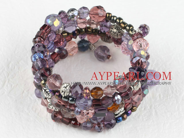 Assortiment de cristal multi couleur multi bracelet bangle envelopper