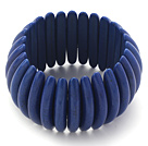 Classic Design Long Spike Shape Dark Blue Turquoise Stretch Bangle Bracelet