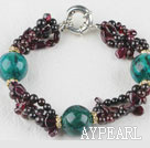 Wholesale favourite garnet and phoenix stone bracelet