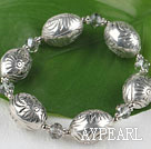 Wholesale 7.5 inches elastic CCB silver like bracelet