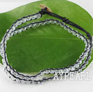 Wholesale 15.0 inches white 4mm manmade crystal wrap bracelet