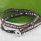 Wholesale 15.0 inches spakle manmade crystal wrap bracelet