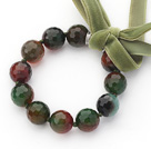 Wholesale Burst Pattern Agate Beaded Bracelet with Ribbon