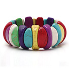 Beautiful Multi Color Turquoise Elastic Stretch Bangle Bracelet