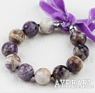 Multi Color Amethyst Beaded armbånd med Ribbon