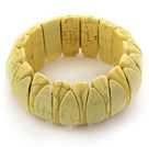 Classic Design Eye Shape Yellow Turquoise Stretch Bangle Bracelet