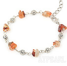 fashion natural agate braclet with lobster clasp