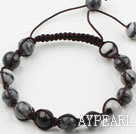 8mm Internet Stone Weaved Beaded Drawstring Bracelet with Adjustable Thread