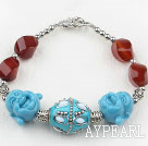 Wholesale Carnelian and The Head of Buddha Bracelet