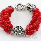 Nytt Design Red Coral armbånd med Moonlight Clasp