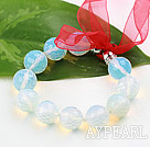 Wholesale New Design Faceted 14mm Opal Stone Beaded Bracelet