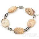 Wholesale 16*21mm picture jasper bracelet with lobster clasp
