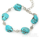 Wholesale simple and fashion turquoise bracelet with lobster clasp