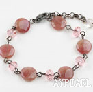 Classic Design Strawberry Crystal Quartz Bracelet with Lobster Clasp