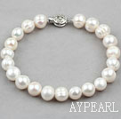 Wholesale 9-10mm White Freshwater Pearl Bridal Bracelet