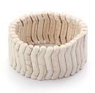 Wholesale Bold Style Branch Shape White Howlite Stretch Bangle Bracelet