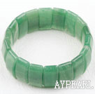 Wholesale Rectangle Shape Faceted Aventurine Elastic Bangle Bracelet