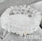 Wholesale Natural White Crystal Elastic Bangle Bracelet