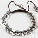 Immitation Silver Weaved Bracelet with Adjustable Chain