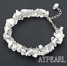 howlite bracelet with metal chain and lobster clasp