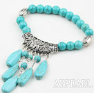 Wholesale Elastic Round Turquoise Bangle Bracelet