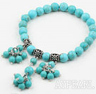 Wholesale New Design Turquoise Beaded Elastic Bracelet