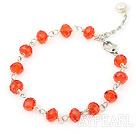 Wholesale Cute style faceted red manmade crystal bracelet