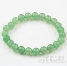 8mm Round Natural Aventurine Elastic Beaded Bracelet