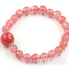 Wholesale Classic Design Cherry Quartz Beaded Elastic Bangle Bracelet