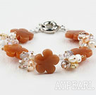 Ferskvann Pearl Crystal and Yellow Aventuringlas Flower Bracelet