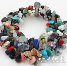Multi Strands Multi Color Stone Chip Bracelet