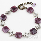 Simple Design Charoite Stone Bracelet with Extendable Chain