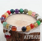 Assorted Multi Color Multi Stone Stretch Bangle Bracelet